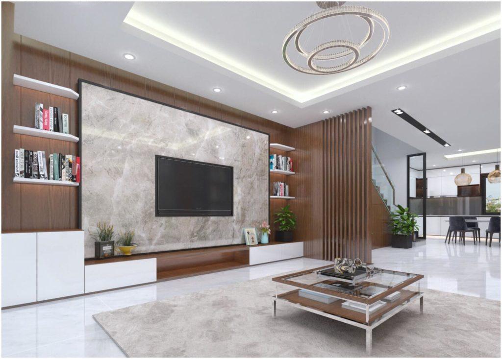 Tấm pvc vân đá được yêu thích trong thiết kế nội thất