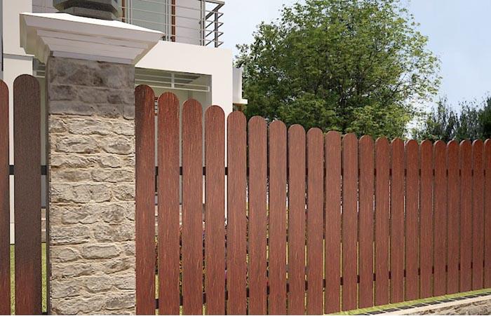 Gỗ nhựa trang tri hàng rào