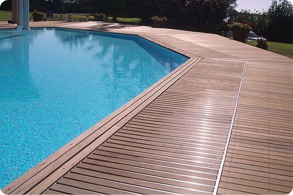 Gỗ nhựa composite - bể bơi