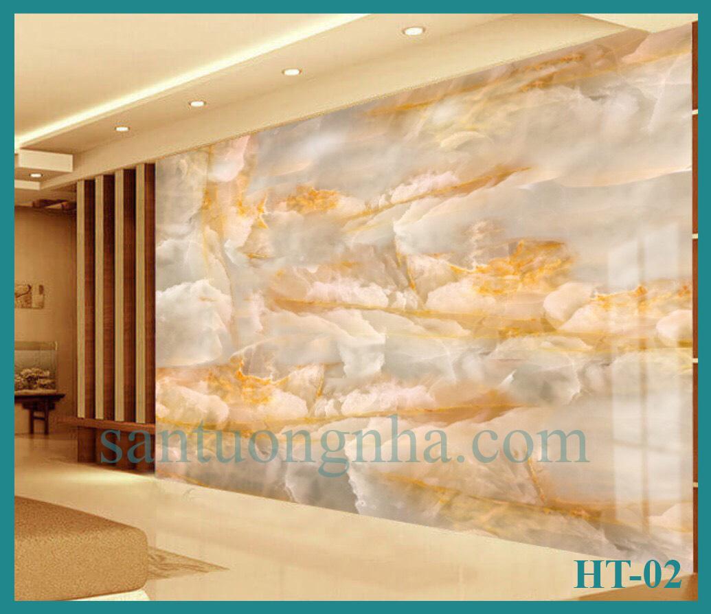 Tấm ốp tường PVC vân đá đối xứng HT-02