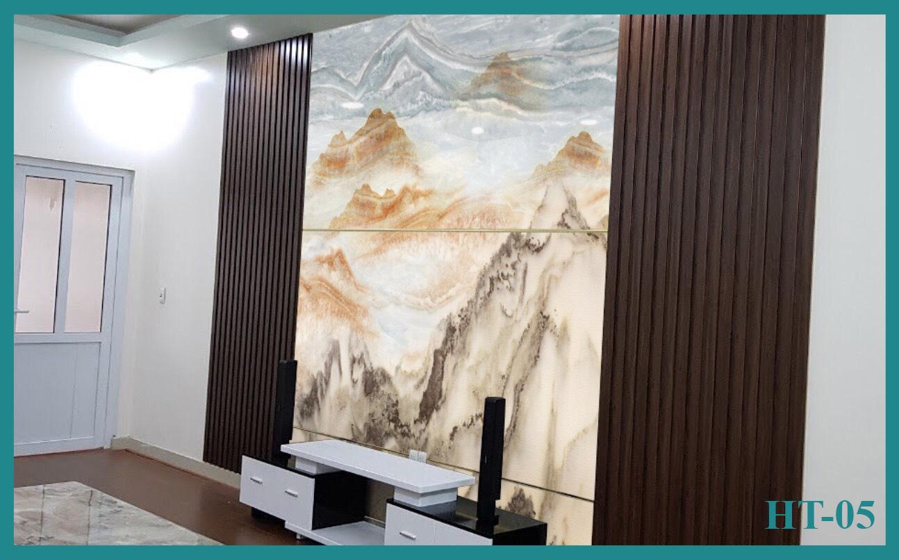 Tấm ốp tường PVC vân đá đối xứng HT-05