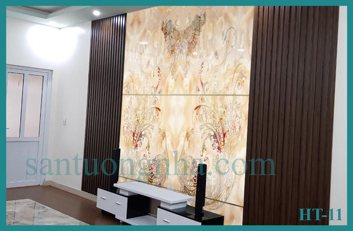 Tấm ốp tường PVC vân đá đối xứng HT-11