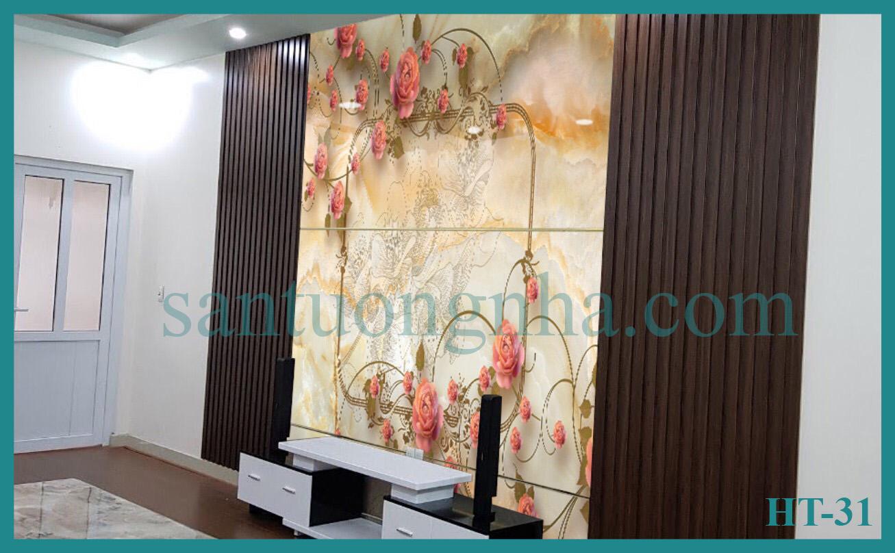 Tấm ốp tường PVC vân đá đối xứng HT-31