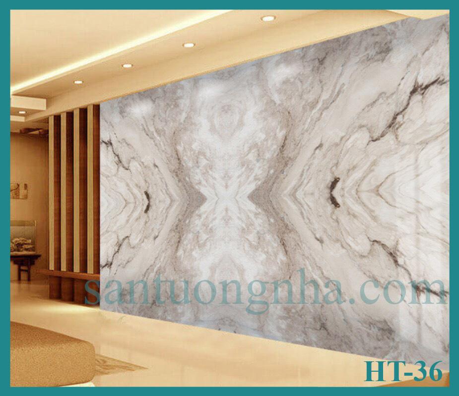 Tấm ốp tường PVC vân đá đối xứng HT-36