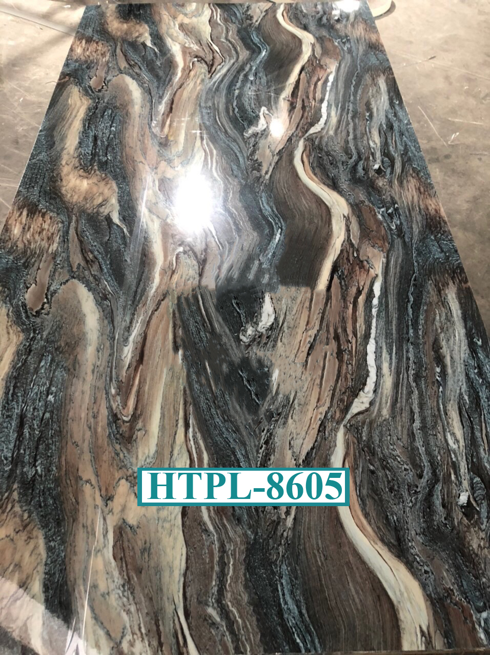 Tấm ốp tường Pvc Vân Đá HTPL-8605