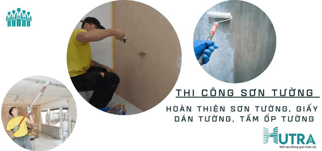 Cải tạo nhà thi công sơn tường
