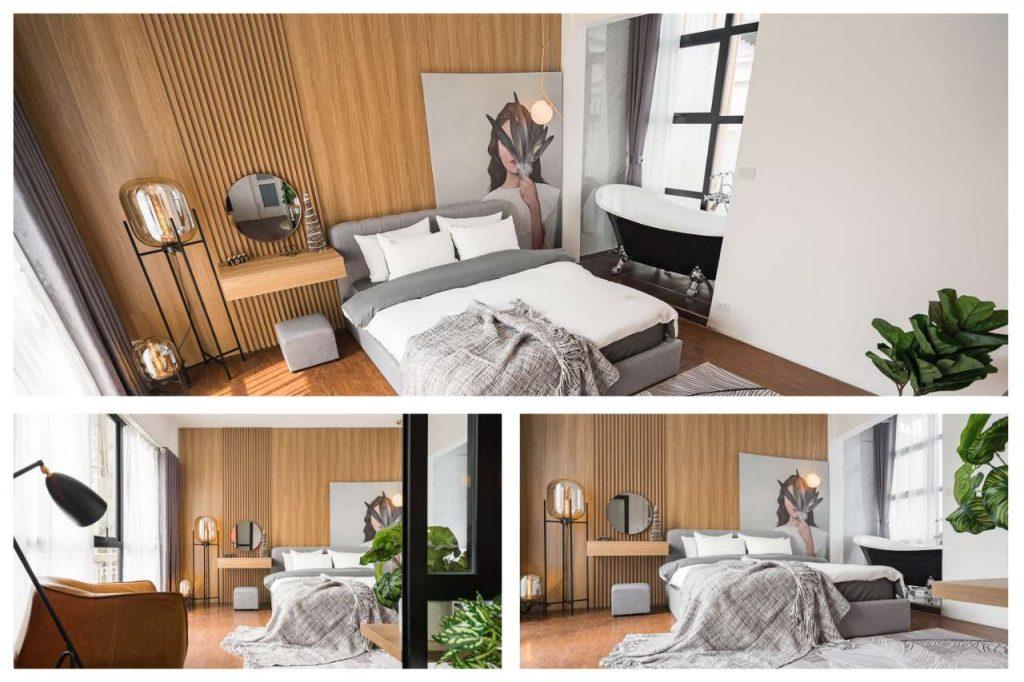 tấm nhựa ốp tường pvc - trang trí phòng ngủ siêu hiện đại